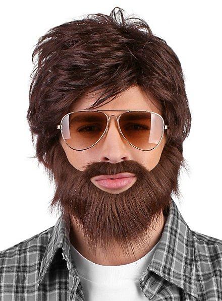 Barbe et perruque de hipster