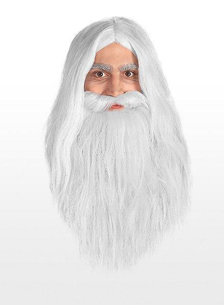 Barbe et perruque Gandalf Seigneur des anneaux