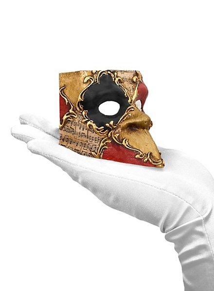 Bauta piccolo scacchi colore musica Venezianische Miniaturmaske