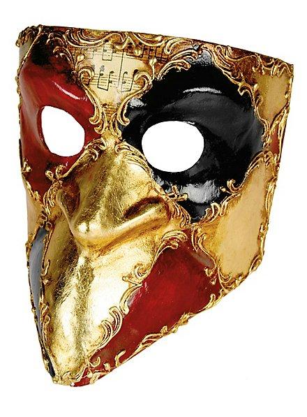 Bauta scacchi colore musica - Venezianische Maske
