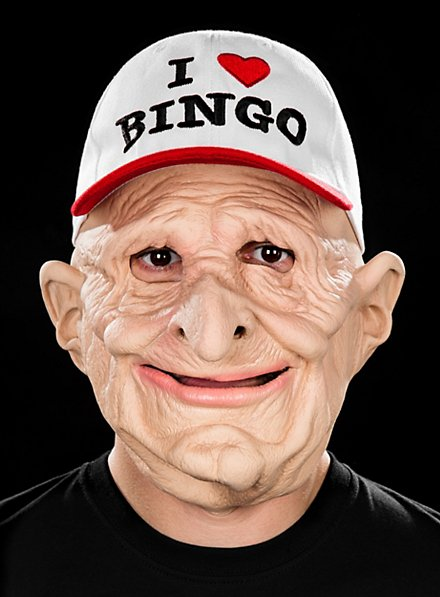 Bingo-Opa Maske aus Latex