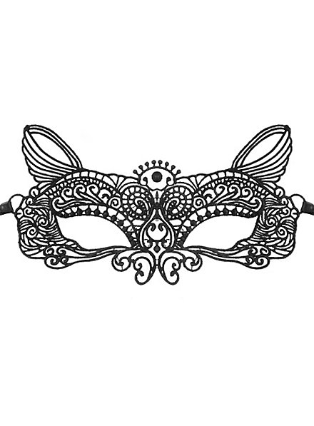 Black lace mask cat