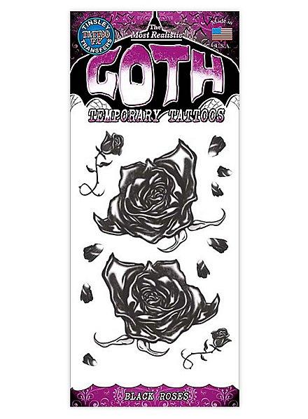 Black Roses Gothic Temporary Tattoo