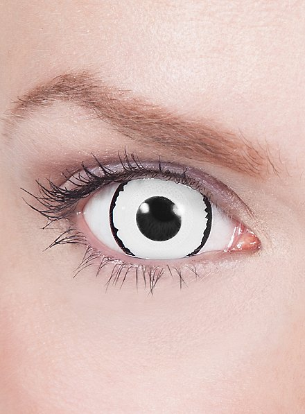Black & White Mini Sclera Contact Lenses