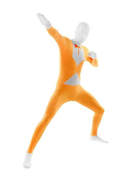 Blacklight Morphsuit Tuxedo orange Full Body Costume