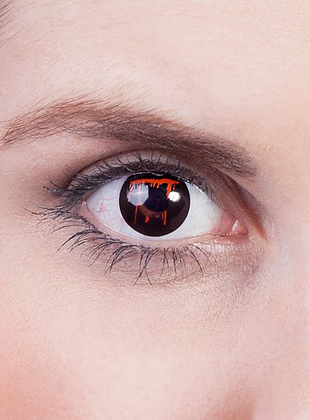 Bleeding Eye Effect Contact Lenses black
