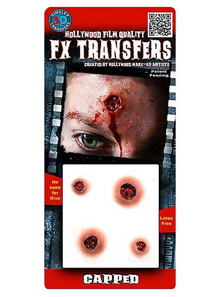 Blessure par balle 3D FX Transfers