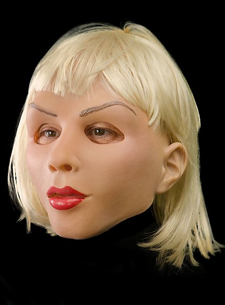 Blonde Diva Maske aus Latex