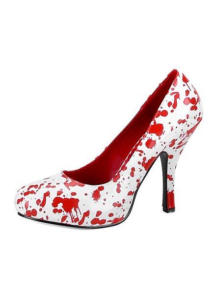Bloody Mary Schuhe weiß-rot