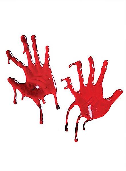 Blutige Hände Fensterdekoration