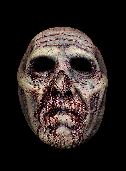 Blutiger Zombie Halbmaske aus Latex