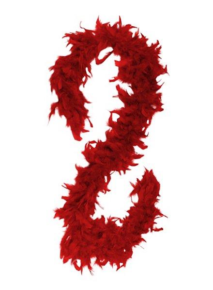 Boa en plumes rouge
