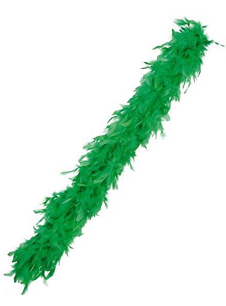 Boa en plumes vert