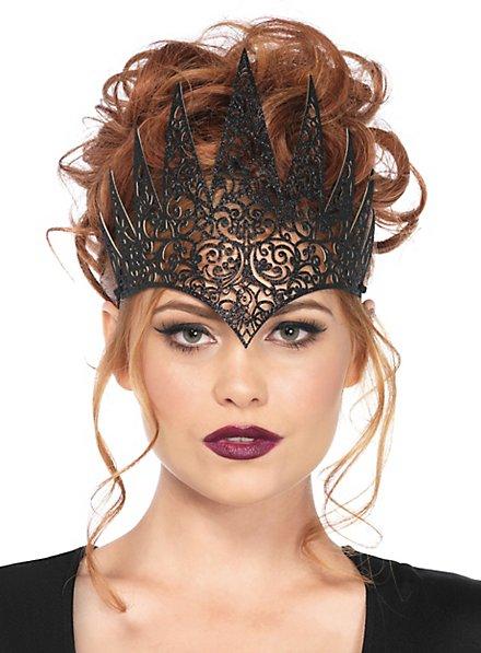 Böse Königin Krone schwarz