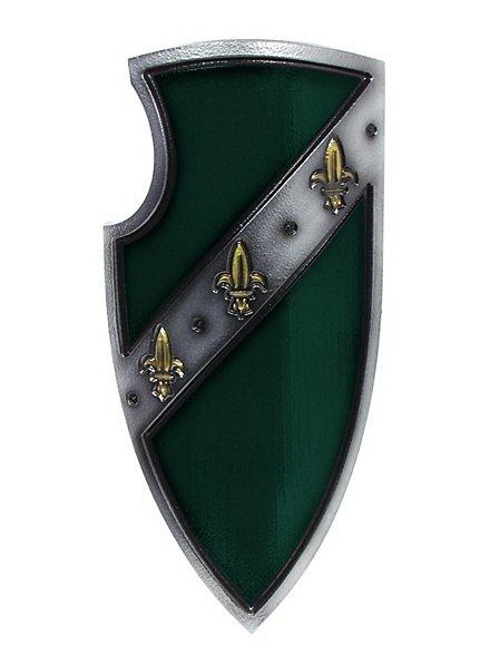 Bouclier de chevalier d'Empire vert Arme factice