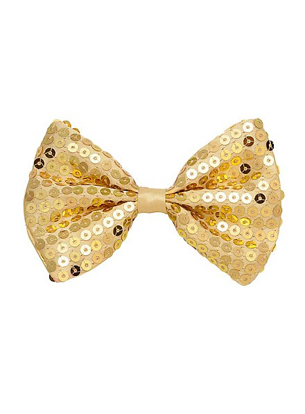 bow tie sequins gold