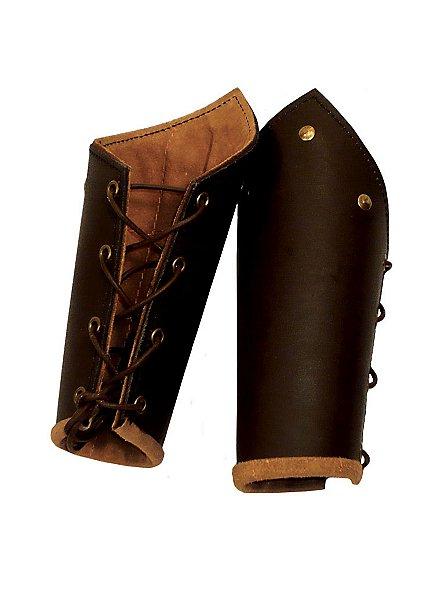 Bras d'armure de chevalier marron