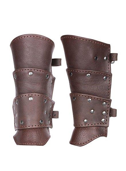 Bras d'armure de guerrier marron