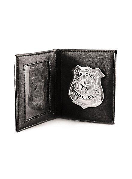 Brieftasche mit Polizeimarke