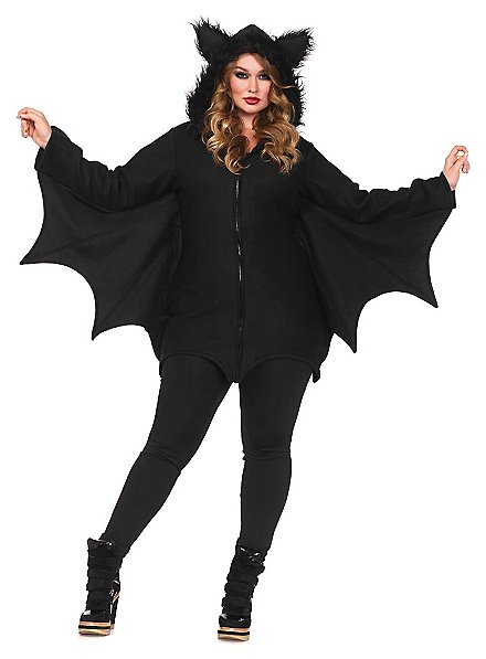Brisk Bat Plus Size Hoodie Dress