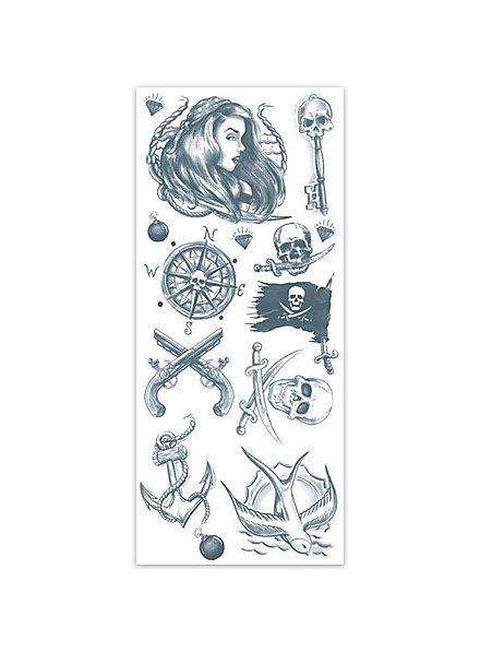 Buccaneer Pirate Temporary Tattoo Kit