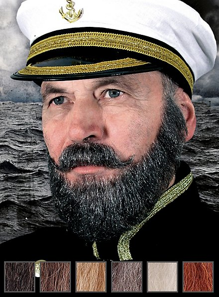 Captain Professional Beards Made of Real Hair