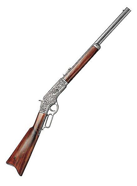 Carabine «Winchester» argentée et gravée Arme décorative