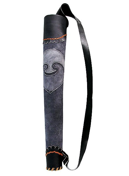 Carquois d'archer gris et noir