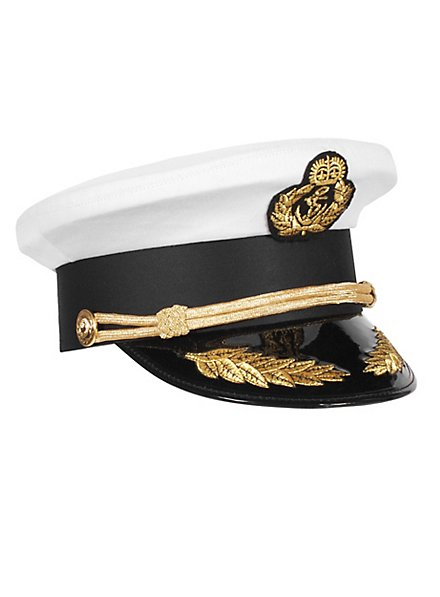 Casquette d'amiral blanc