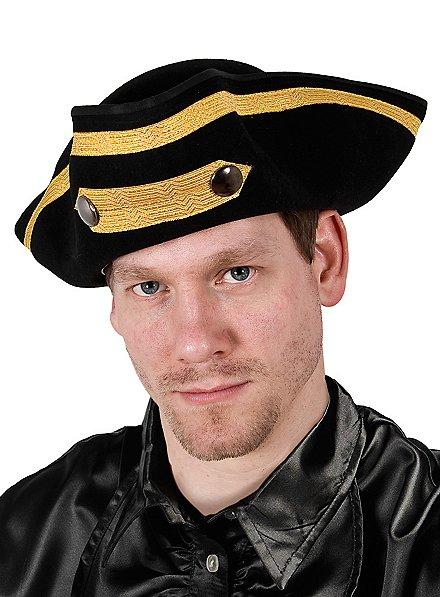 Chapeau de capitaine avec galon doré