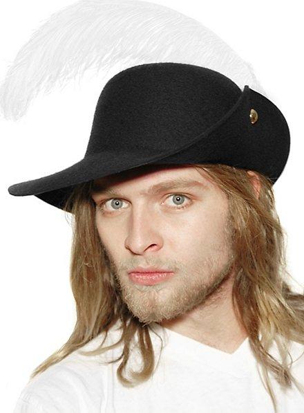 Chapeau de mousquetaire à plumes