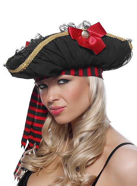 Chapeau de pirate à dentelles