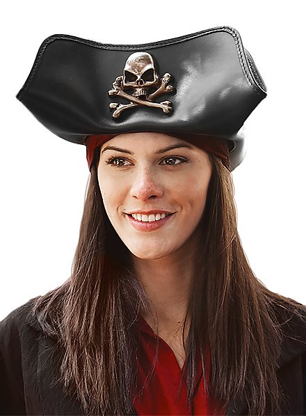 Chapeau de pirate en cuir