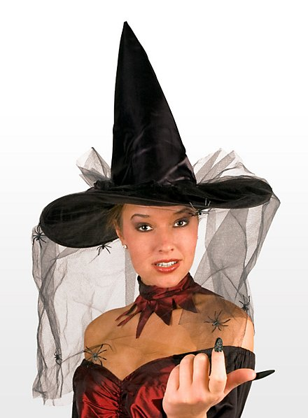 Chapeau de sorcière avec araignées