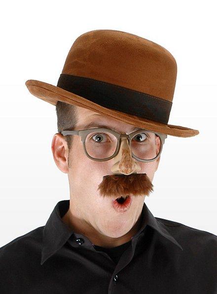 Chapeau melon steampunk marron