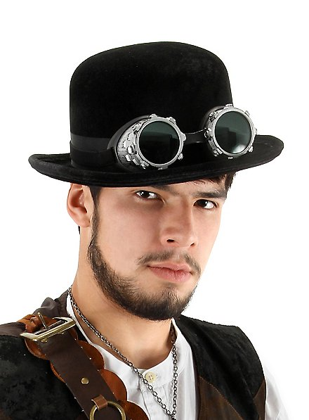 Chapeau melon steampunk noir