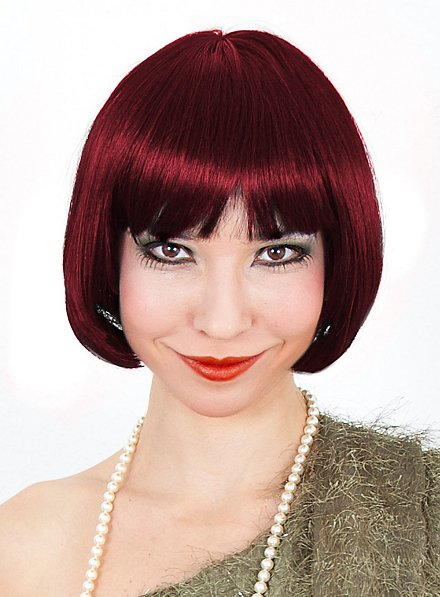 Charleston burgundy Wig