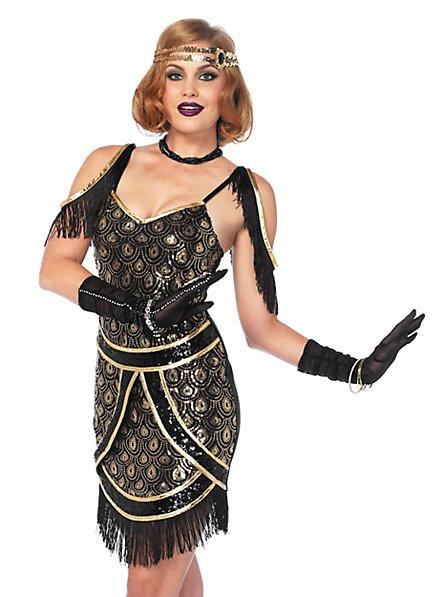 Charleston dress with peacock design costume