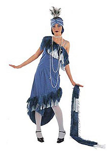 Charleston Queen Kostüm blau