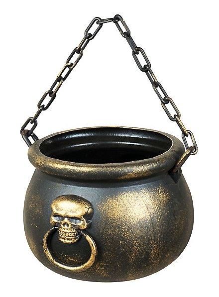 Chaudron de sorcière avec tête de mort