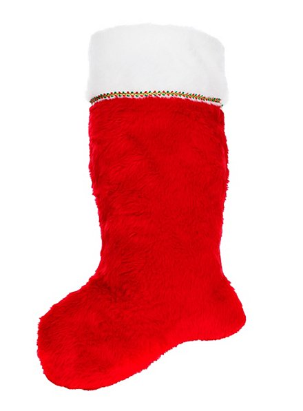 Chaussette de Noël rouge et blanc
