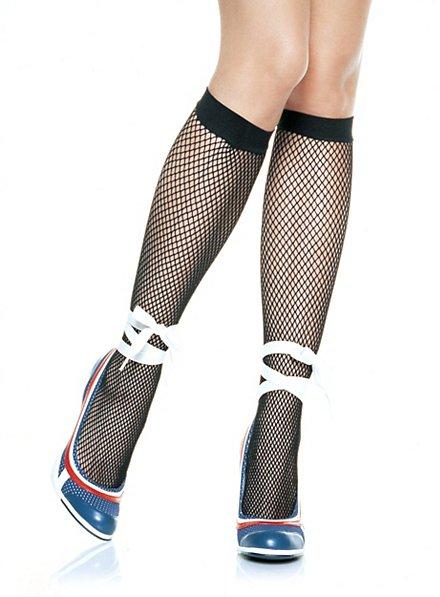 Chaussettes hautes résille noires