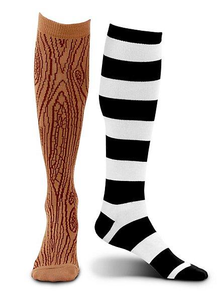 Chaussettes jambe de bois de pirate