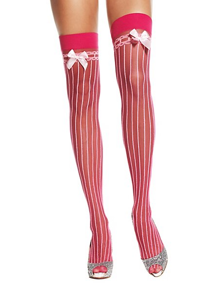 Chaussettes rose avec nœud blanc