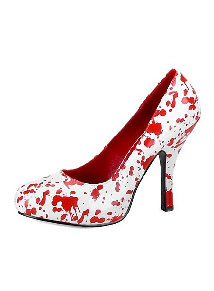 Chaussures Bloody Mary rouges et blanches