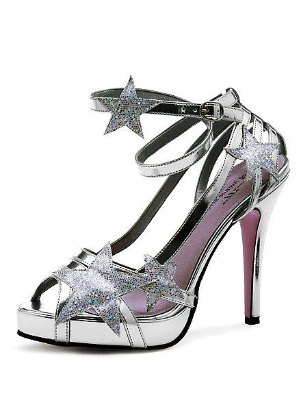 Chaussures de fée argentées