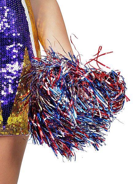Cheerleader Pompoms metallic