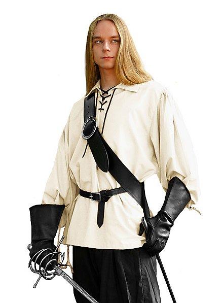 Chemise de chevalier blanche