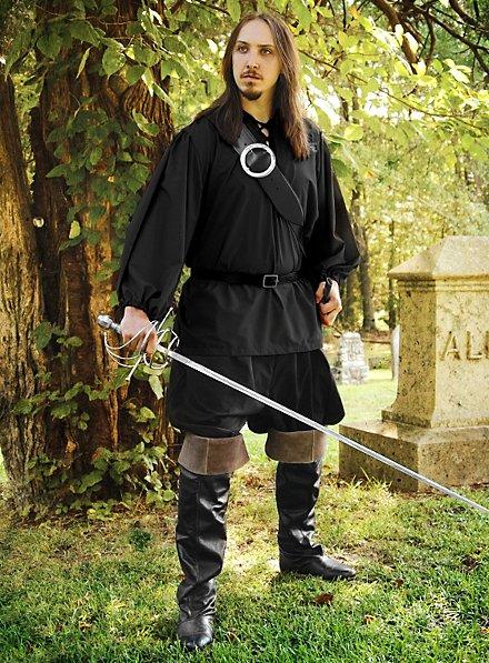 Chemise de chevalier noire