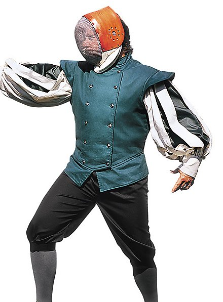 Chemise de maître d'armes à manches fendues